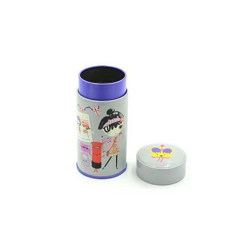 empty round tin gift box
