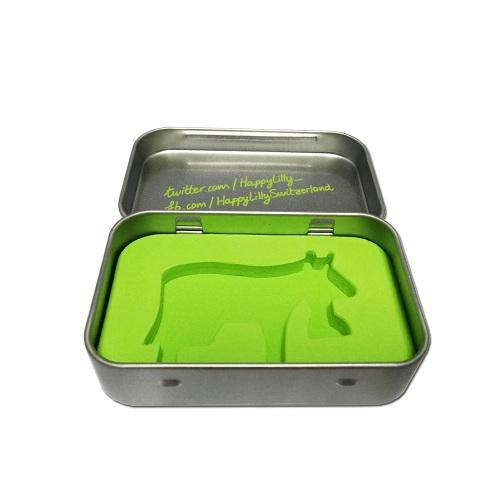 rectangular hinged tin containers
