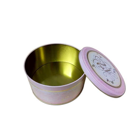 round tin with clear lid