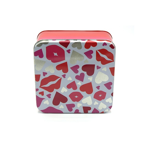 tin box with lid - square gift boxes wholesale