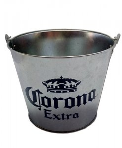 tin bucket planter