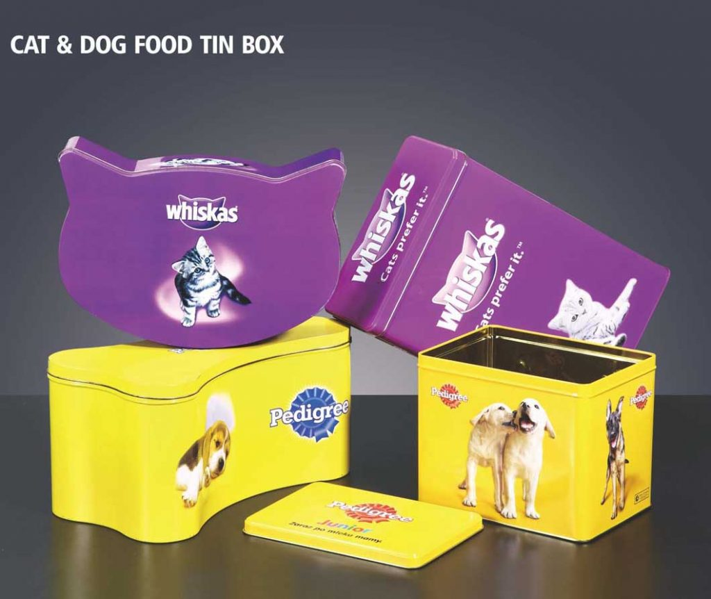 Cat dog food tin box