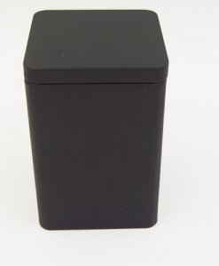 black square tin box