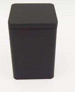 black square tin box
