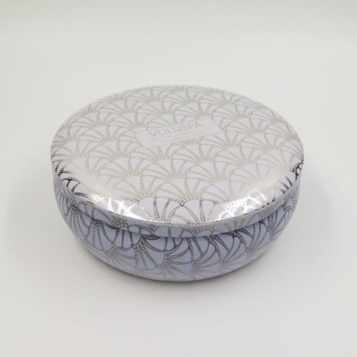 cosmetic box round tin
