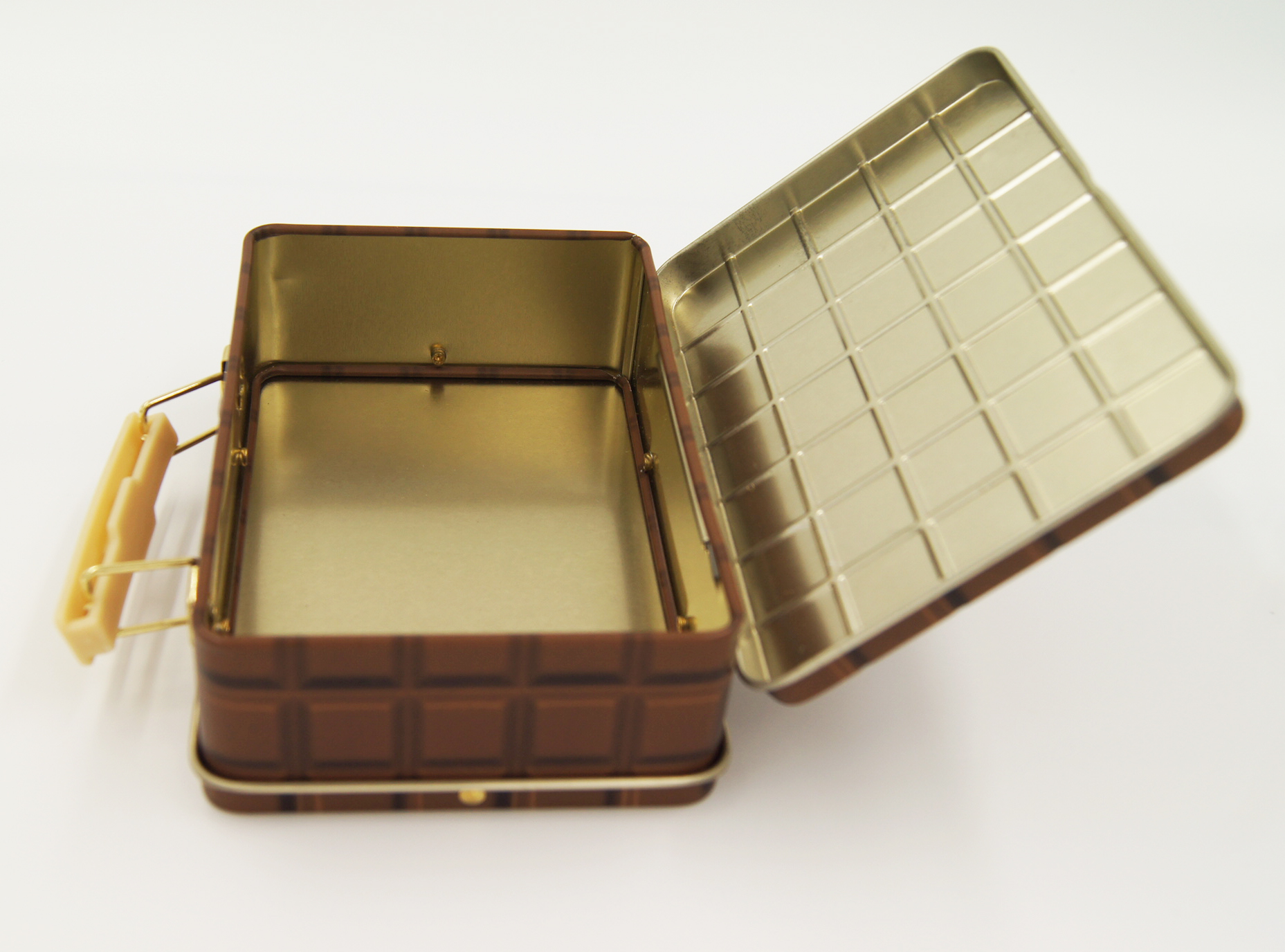 cosmetic box small handle tins - cosmetic tin box with handle