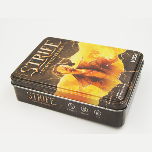 emboss rectangle tin box