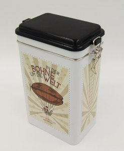 rectangle tea and coffee tin box