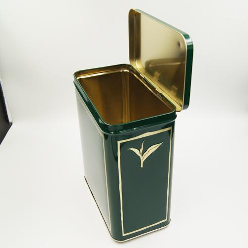 rectangle tea tin box - tea storage tins wholesale