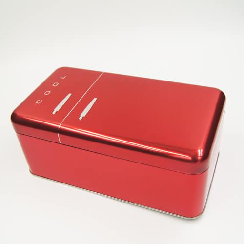red cool tin box