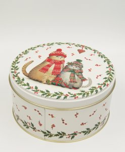 round tin box printing chrismas tree