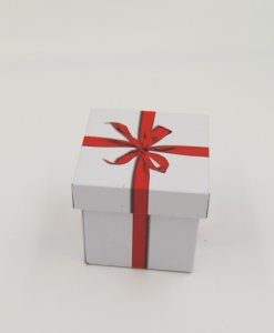 small square gift tin box