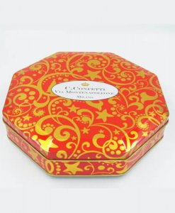 Octagon chocolate tins packaging