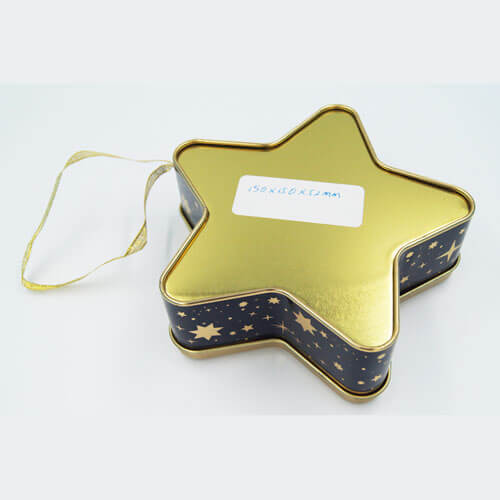 Star shape chocolate tin boxes - chocolate packaging box suppliers
