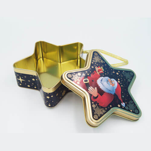 Star shape chocolate tin boxes1 - metal gift box