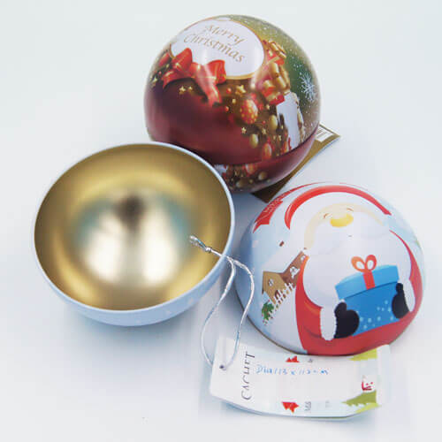 big ball shape chocolate tin box - ball tin box