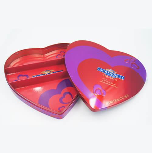 heart shape chocolate tin box 17 - heart shape chocolate tin box