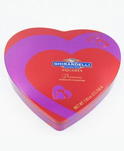 heart shape chocolate tin box