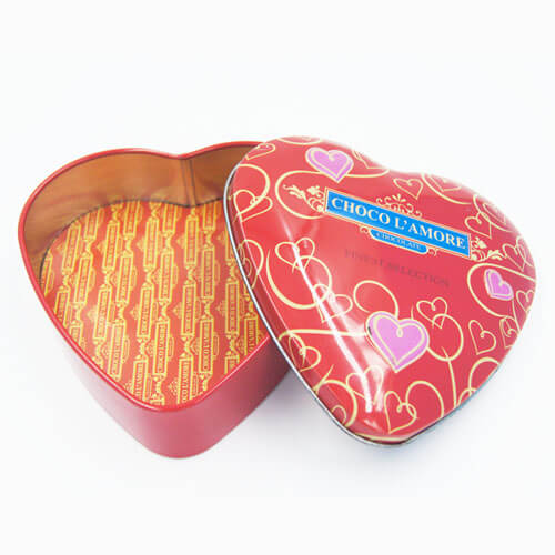 heart shape chocolate tin box 8 - Metal Chocolate Box- Manufacturers & Suppliers in China