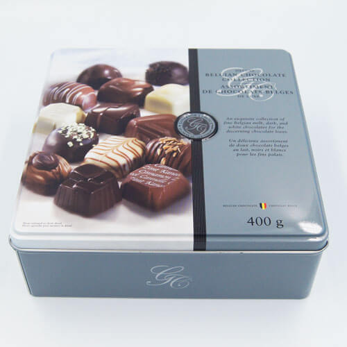 square chocolate tin packaging - Square chocolate tin packaging