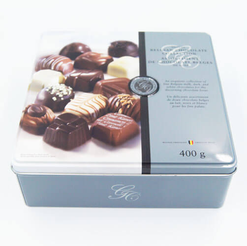 square chocolate tin packaging1 - Square chocolate tin packaging