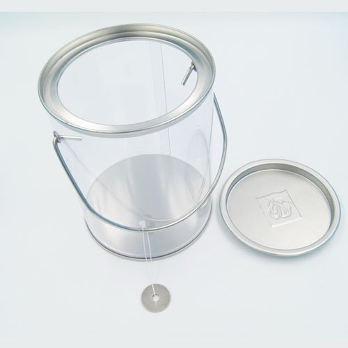 PET bucket with handle1 - Coins, Money Tin Can Boxes