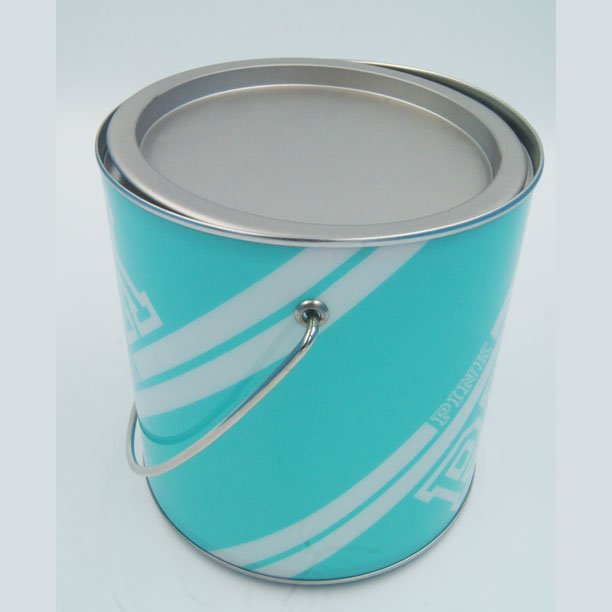 PET bucket with handle8 - PVC Tin Pet Food Container