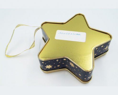 Star shape chocolate tin boxes 495x400 - Custom Design Star Shaped Box for Chocolate Packaging