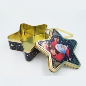 Star shape chocolate tin boxes1 300x300 - Custom Design Star Shaped Box for Chocolate Packaging