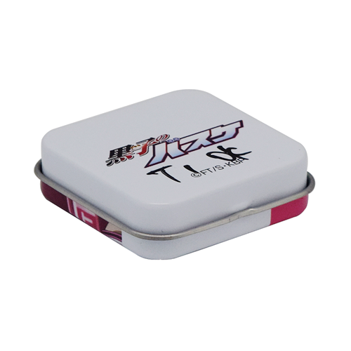 TW265 002 - Metal Small Tin Box with Hinged Lid for Candy Packaging