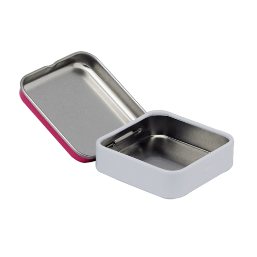 TW265 003 - Metal Small Tin Box with Hinged Lid for Candy Packaging