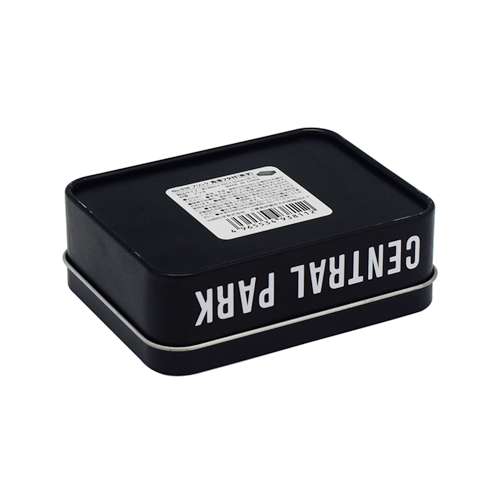 TW268 002 - Metal Small Black Tin Containers for Cosmetic Packaging