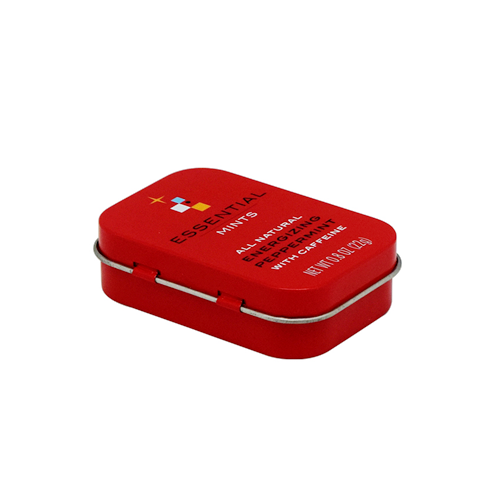 TW277 001 - Custom Small Metal Box With Hinged Lid For Gifts Packaging
