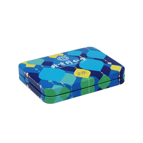 TW280 001 - Custom Small Hinged Metal Tins For Candy Packaging