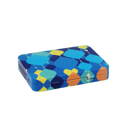 TW280 002 - Custom Small Hinged Metal Tins For Candy Packaging