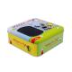 Квадратни празни тенекиени кутии с прозрачен капак за козметична опаковка