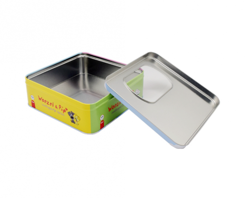 TW434 003 495x400 - Square Empty Tin Cans With Clear Lid For Cosmetic Packaging