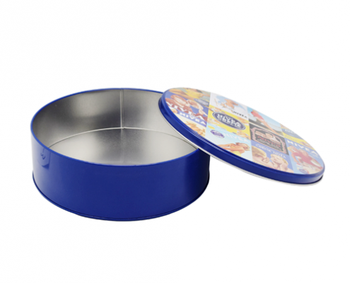 Metal Round Small Tin Storage Containers For Sugar Packaging