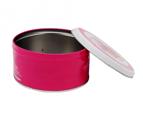 Metal Round Tin Can With lid For Kids Products Packaging