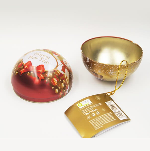 ball tin box - Custom Small Metal Ball Empty Tin Can For Chocolate Storage