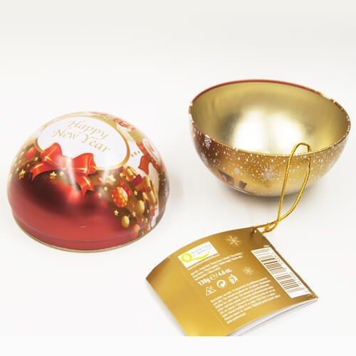 ball tin box1 - Custom Small Metal Ball Empty Tin Can For Chocolate Storage
