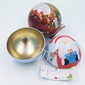 big ball shape chocolate tin box 300x300 - Custom Ball Shaped Box With Lid for Chocolate Packaging