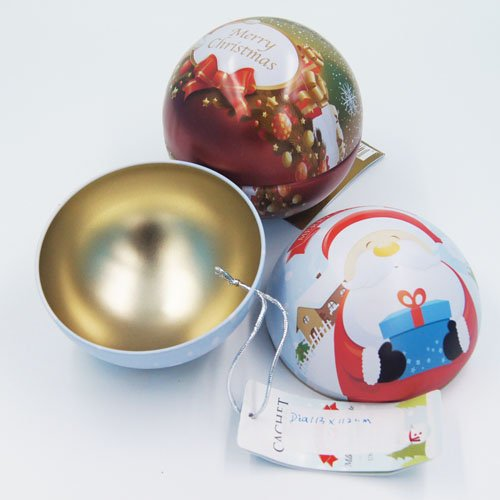 big ball shape chocolate tin box - Food Packaging Tins