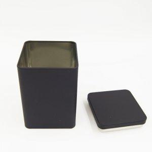 black square tin box 300x300 - Custom Black Square Tea Tins For Tea Packaging Design