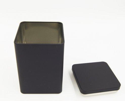 Custom Black Square Tea Tins For Tea Packaging Design