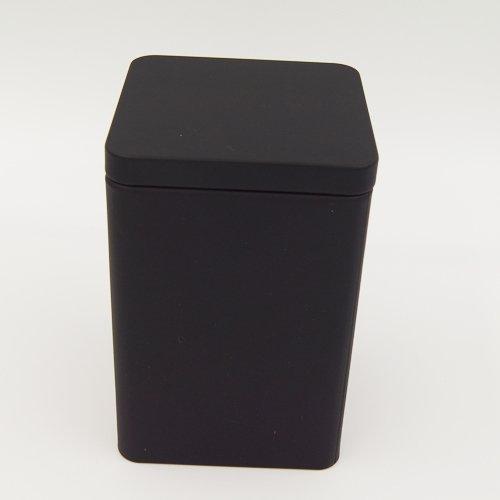 black square tin box1 - Custom Black Square Tea Tins For Tea Packaging Design
