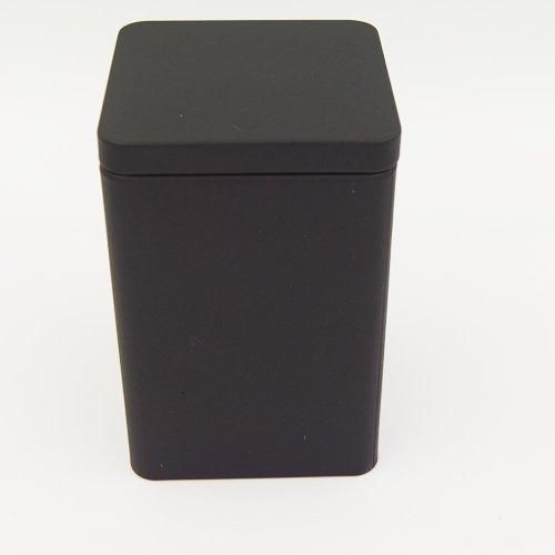black square tin box3 - Custom Black Square Tea Tins For Tea Packaging Design