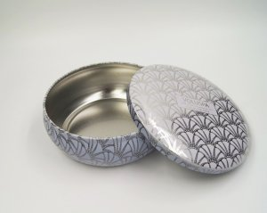 cosmetic box round tin 300x239 - Custom Small Round Metal Box For Food Packaging Design