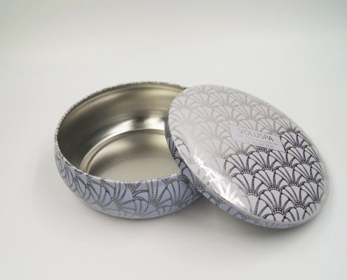 Custom Small Round Metal Box For Food Packaging Design