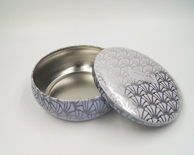 cosmetic box round tin - Custom Small Round Metal Box For Food Packaging Design